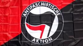 Antifaschistische Aktion Flag - Red and Black