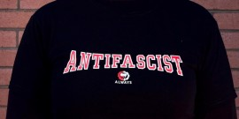 Antifascist Always t-shirt - Fire & Flames