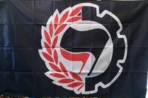 Antifa Cogs/Wreath Flag