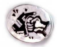 Anti-fascist enamel badge