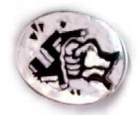 Anti-fascist enamel badge